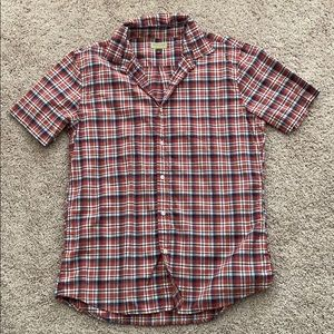 Plaid Short Sleeve Button Up